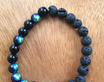 Jet + Lava Bracelet