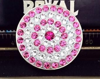 Swarovski Crystal Pink Pendant - Rose and Fuchsia Swarovski Crystal Silver Pendant | Handmade | Gift For Her