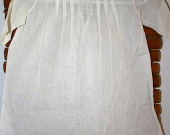 Madeira White Cotton Dress//Size 2 Girl Handmade//Madeira Portugal//Vintage Toddler Girl White Dress