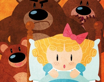 Tales - Goldilocks and the Three Bears print