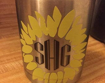 Sunflower Yeti Decal