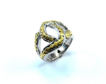 2471-Ladies Gold Nugget Ring