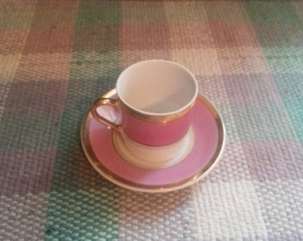 Vintage Miniature Tea Cup and Saucer - Made in Japan