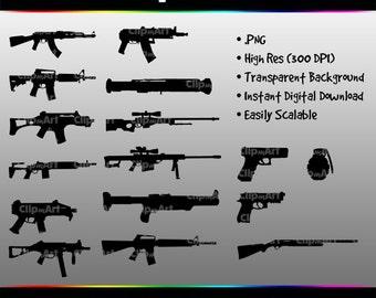 Weapon/Gun Clip Art Pack