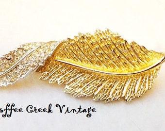 Vintage Brooch- Sarah Coventry Leaf Brooch-Vintage