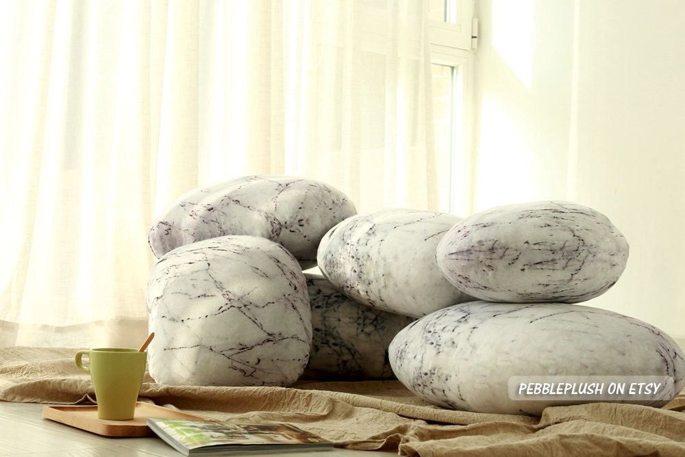 Rock Floor Pillows : Home Stone Pillow Rock Pillow Pebble Home Floor Pillow