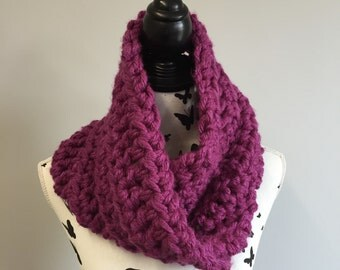 Handmade Extra Super Chunky Crochet Cowl / Neck Warmer - choice of colours
