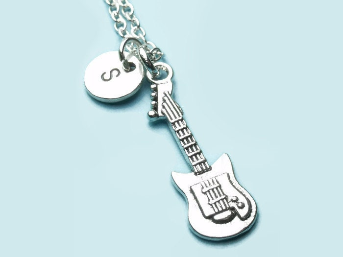 electric guitar charm necklace rock charm necklace