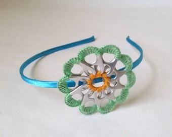 Headband blue flower