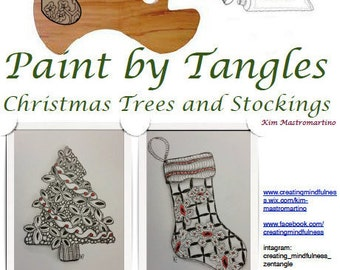 Paint by Tangles Pdf Instruction for Design