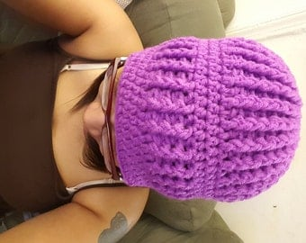 Crochet Ribbed Beanie Hat