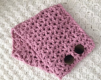Two button neck warmer