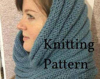 Knitting Pattern Infinity scarf Instant Download