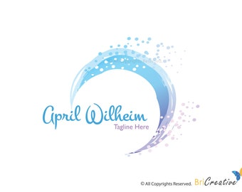 Logo Design-Premade Logo- Watercolor Design-Photography Logo-Watermark Design