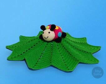 Ladybug Lovey Pattern | Security Blanket | Crochet Lovey | Baby Lovey Toy Pattern Crochet Blanket Toy Lovey Blanket PDF Crochet Pattern