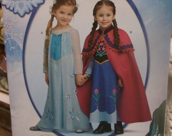 Girls Disney Frozen Costume Pattern -  sizes 3-8