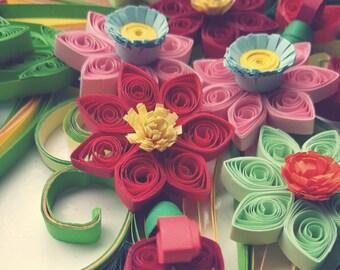 Colorful 3D floral design