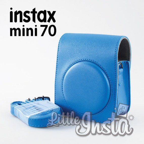 Blue fujifilm instax mini 70 camera bag protection by for Housse instax mini 70