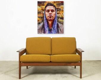 "Rap, Hip Hop Artist Slug from Atmosphere: ""Slug"" Gallery Wrapped Canvas Giclee Print"