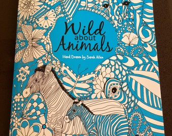 Wild about Animals, Adult Colouring Book, A4, With a set of 12 coloured pencils