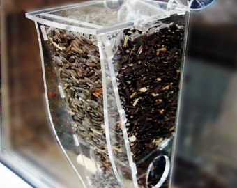 Window Bird Feeder, Single Seed Feeder, See Wild Birds Up Close and Personal