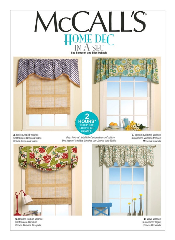 Sewing Pattern For Four Window Valances Patterns Mccall S