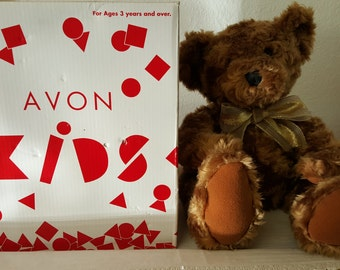 AVON Talk-To-Me Teddy Bear, avon bear, talking plush toy, Avon plush toy, collectible teddy, Talking Teddy Bear, Talking Plush Bear,