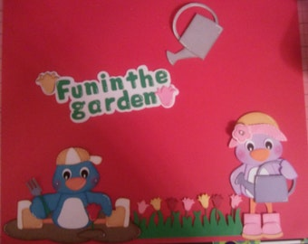 Pre made paper piecing fun in the garden
