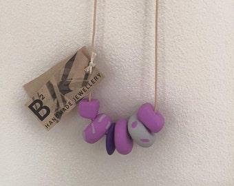 Handmade Fimo Clay Necklace