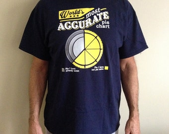 World's Most Accurate Pie Chart Funny T-shirt