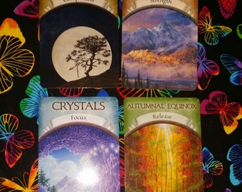 Oracle Card Reading Relationship Spread with Earth Magic Oracle