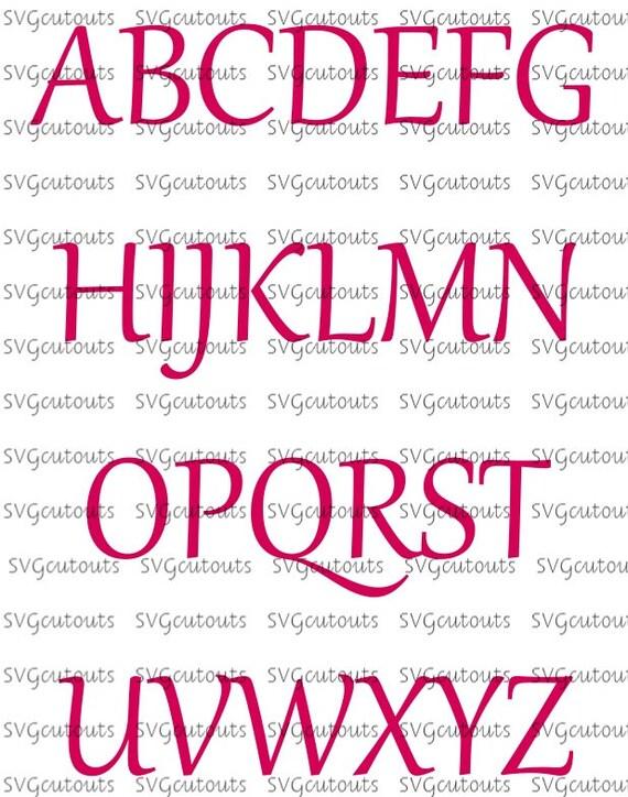 simple script font monogram alphabet design svg eps dxf