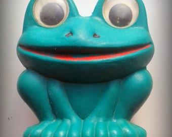 crocodile, green, vintage toy plastic.  USSR,1970