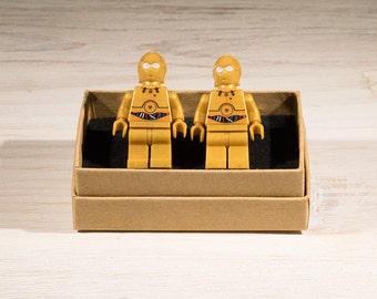 Star Wars cufflinks, star wars gift, C3PO cufflinks, Lego Style cufflinks, geek gift, gifts for him, suit accessory