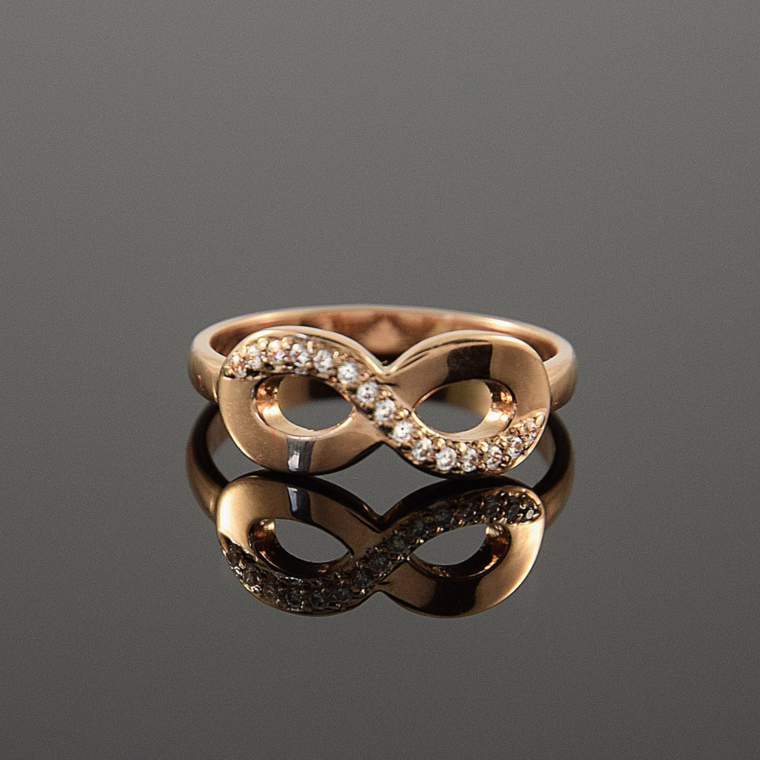 ring gold ring infinity ring gold