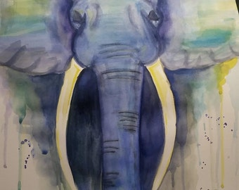 large graceful elephant painting