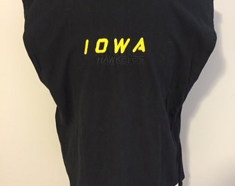 Vintage University of Iowa Sleaveless T-Shirt XL, Embroided Logo