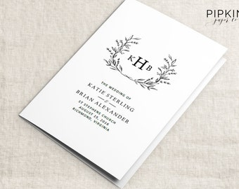 Wedding Programs | Wedding Order Of Service Template | Wedding Ceremony Program Template | Ceremony Programs | Wedding Program Template Word