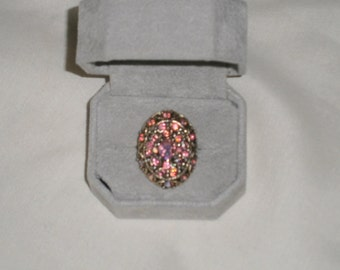 Vintage Adjustable Rhinestone Ring