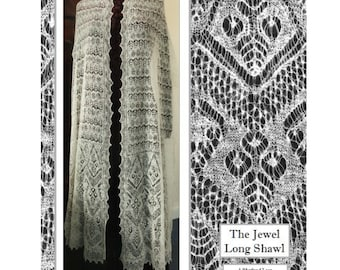 The  Jewel Long Shawl Book  & pdf package