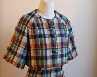 Vintage 1950s Plaid Blazer & Skirt