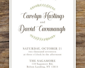 Rustic Wedding Invite and RSVP