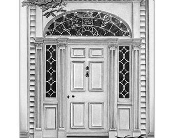 Front Door Drawing door sketch | etsy