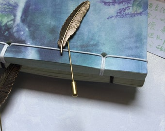 New Popular Style Men Lapel Pin Vintage Alloy Feather Brooches Charming Wedding Groomsman Boutonniere