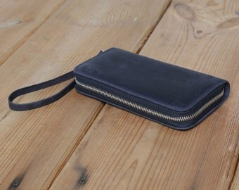 Travel Wallet + Zip around Wallet + Leather Travel Wallet + Clutch  Bag + Card Wallet + Leather Handbag + iPhone 5 Leather Case