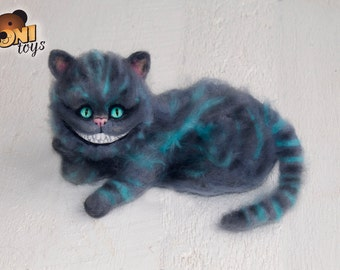 Cheshire cat Needle Felted