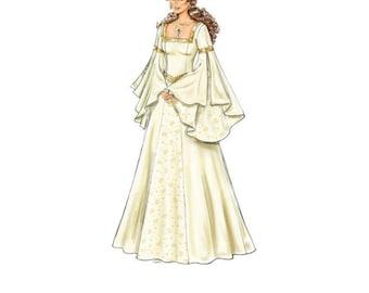 Medieval Elven Wedding Dress, Celtic Bride, Lace-up Wedding Gown, Handmade Elven Wedding Dress, Fantasy Bride Made to Order Choose Color