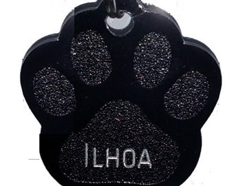 Medal engraved for cats, small and medium dogs aluminum paw-shaped - 10 colors