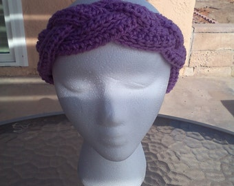 Earmuff headband braided
