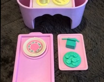 Lot of Barbie serving trays, cafeteria tray, breakfast in bed